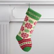 Snowflake Knit Stocking