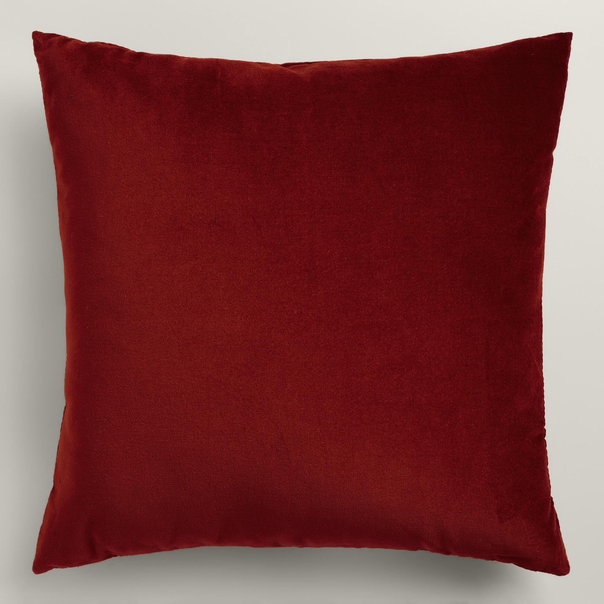 Throw Pillows Velvet : Red Velvet Throw Pillow World Market
