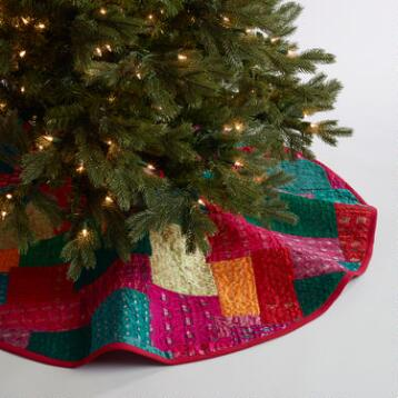 Sari Patchwork Tree Skirt