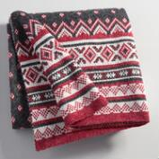 Fair Isle Knit Throw
