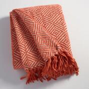 Rust Geo Chenille Throw