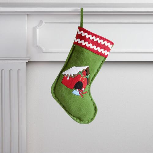 Green Doghouse Pet Stocking