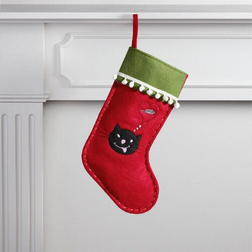 Red Dreamy Cat Pet Stocking
