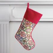 Red Stained Glass Stocking