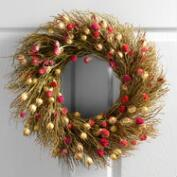 Live Pods and Twigs Wreath