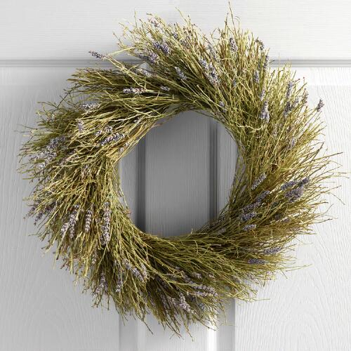 Live Winterbud and Dried Lavender Wreath