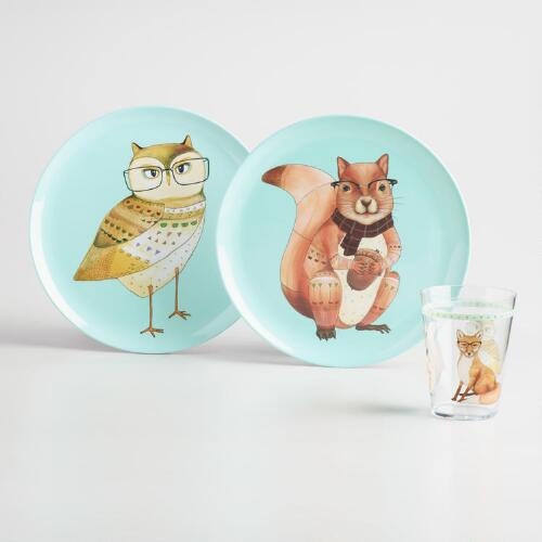 Animal Melamine Dinnerware Collection