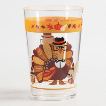 Turkey Acrylic Tumblers Set of 6