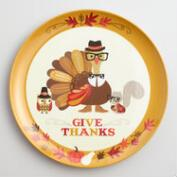 Turkey Melamine Dinner Plates Set of 6
