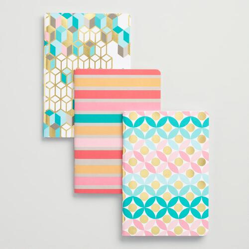 Geo Modern Journals Set of 3