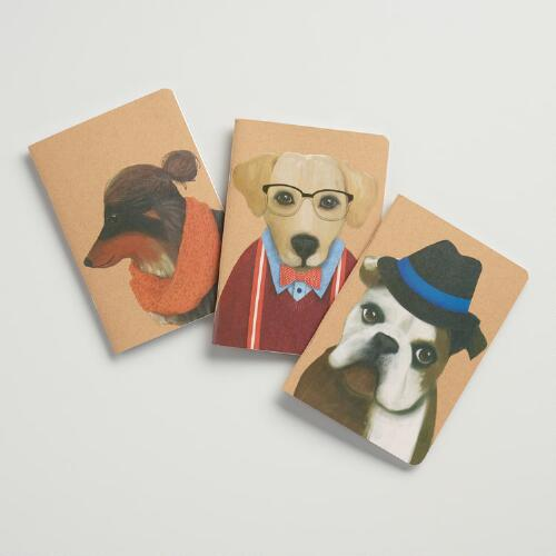 Hipster Dog Journals Set of 3