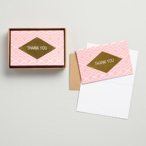 Geo Modern Thank You Cards 12-Pack