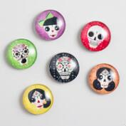 Day of the Dead Magnets Set of 6