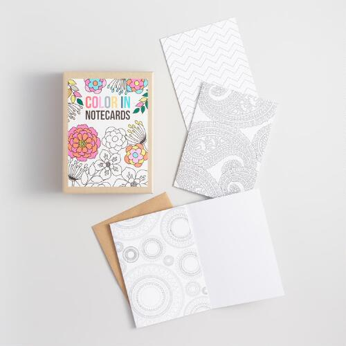 Color Your Own Note Cards Set of 16