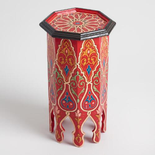 Red Hexagonal Marrakech Occasional Table