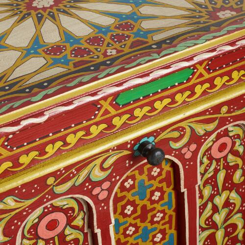Red Painted Dowry Chest