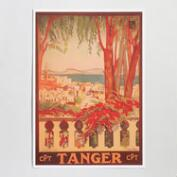 Tangier Vintage Moroccan Travel Poster