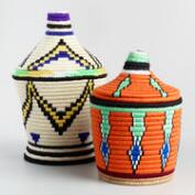 Lidded Khobz Bread Baskets