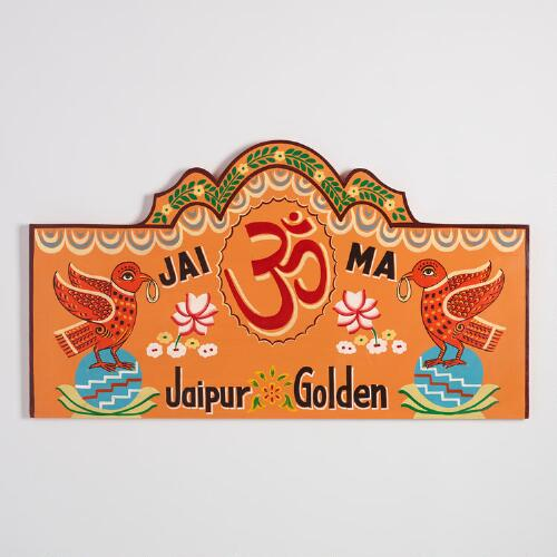 Wood Jaipur Wall Sign