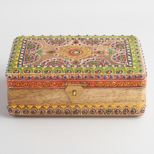 Painted Embellished Wood Box