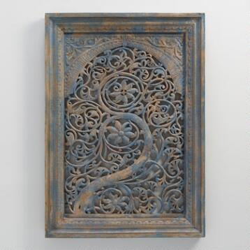 Carved Wood Tree of Life Wall Hanging