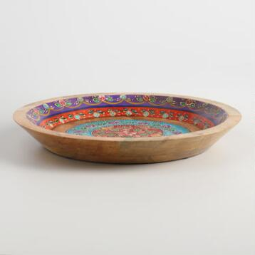 Painted Wood Parat Bowl