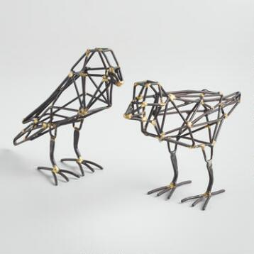 Geometric Iron Birds Set of 2