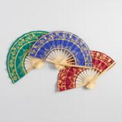Thai Folding Fans Set of 3