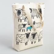 Large Black Sheep Canvas Tote Bag