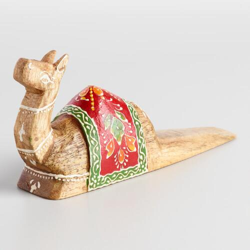 Wood Camel Doorstop