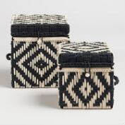 Black and White Woven Box