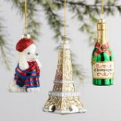 Glass France Boxed Ornaments 3 Pack