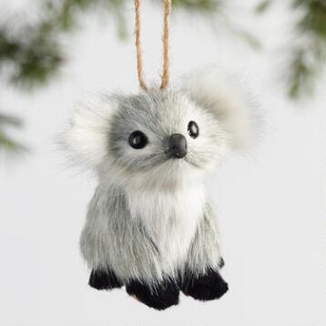 Fabric Koala Ornaments Set of 3