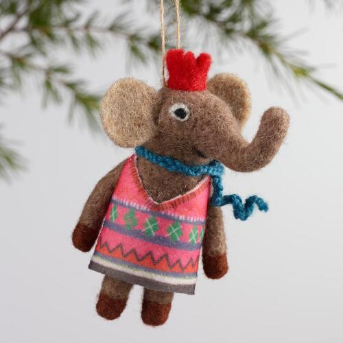 Felt Animal Ornaments Set of 4