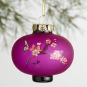 Glass Plum Blossom Lantern Ornaments Set of 3