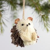 Natural Fiber Glitter Hedgehog Ornaments Set of 4