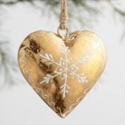 Foiled Heart Ornaments Set of 3