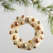 Bottlebrush Wreath Ornaments Set of 2