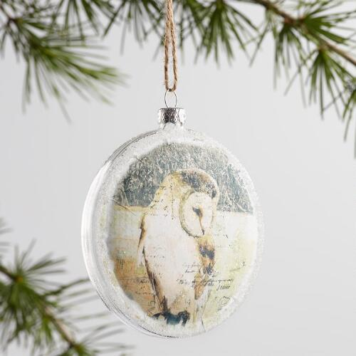 Glass Animal Ornaments Set of 3