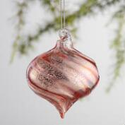 Glass Swirl Orb Ornaments Set of 2