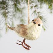 Natural Fiber Blushing Bird Ornaments Set of 2