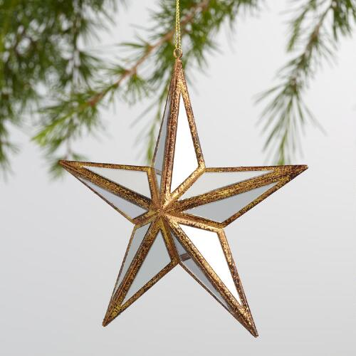 Mirrored Star Ornaments Set of 2