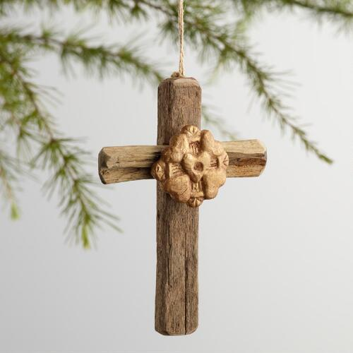Driftwood Cross Ornaments Set of 3
