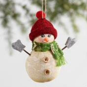 Fabric Snowman Ornaments Set of 3