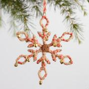 Jute Snowflake Bell Ornaments Set of 2