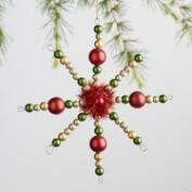 Retro Snowflake Ornaments Set of 2