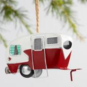 Metal Trailer Ornaments Set of 2