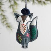 Fabric Embroidered Animal Ornaments Set of 4