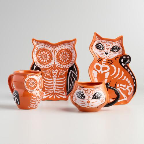 Los Muertos Animal Plate and Mug Collection