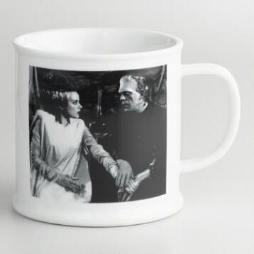 Frankenstein and Bride of Frankenstein Mug Set of 4